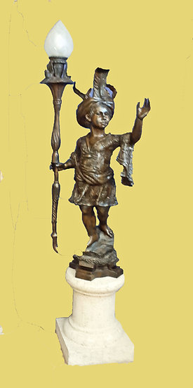 Standing Bronze Lamp