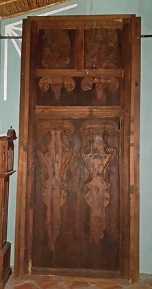 Pair of Antique Doors from Michoacan, 3.35m tall