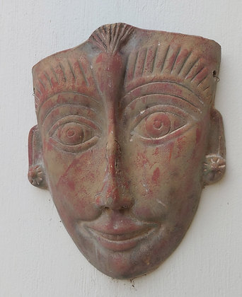 """Mexican Aztec 'Face' Mask, 18"""" tall, 15 1/2"""" wide"""
