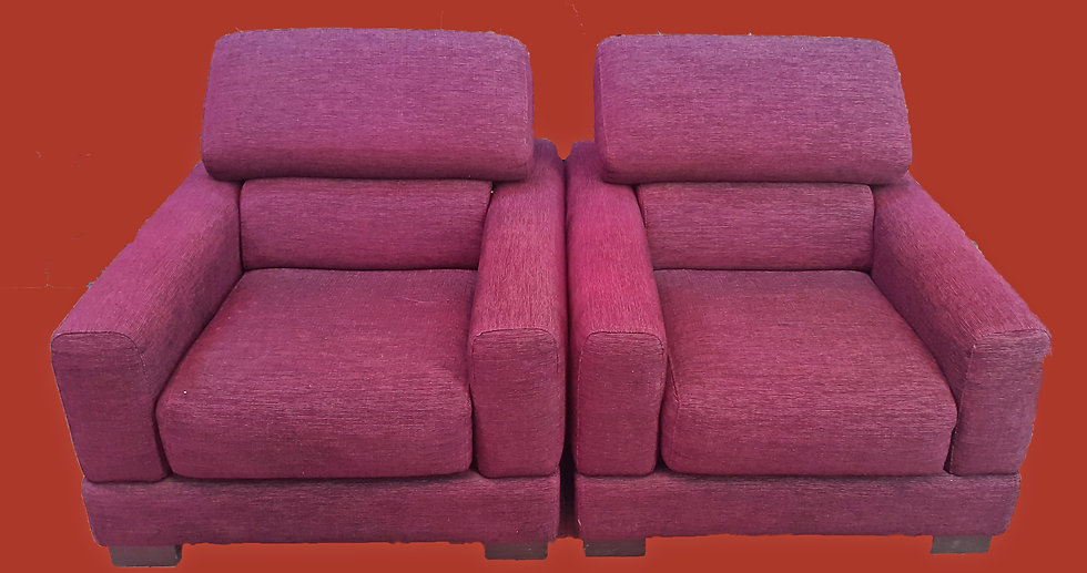 Pair Roche Bobois Lounge Chairs