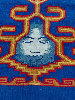 Zapotec Hand Woven Tapestry Rug, from Oaxaca Mexico