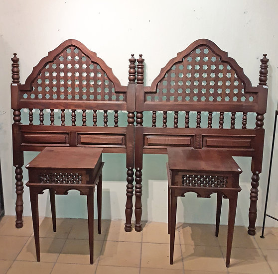 Pair of Twin Headboards and Night Tables