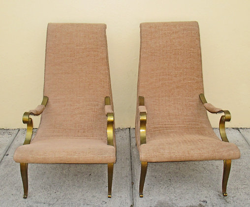 Art Deco Chairs with Bronze Legs
