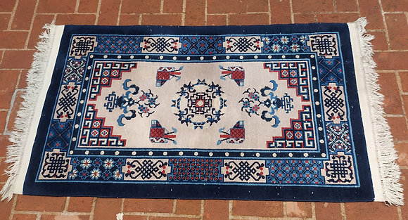 """Semi-Antique Rug from China,  68"""" by 37"""", Classic Design"""