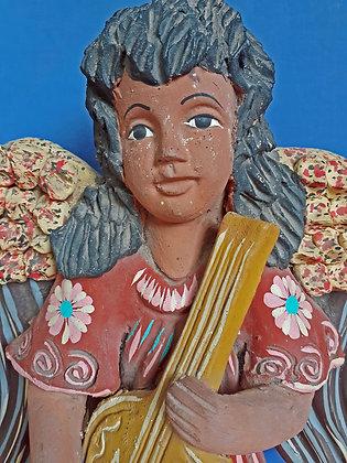 Vintage-Tlaquepaque-Figure-Cherub-Musician