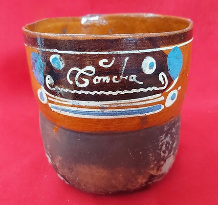 """Concha"", Personalized Utilarian Cup, Tazon,  5 1/2"", 1950's"