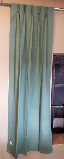 Green Cloth Drapes, Vinyl Backing, multiple panels available