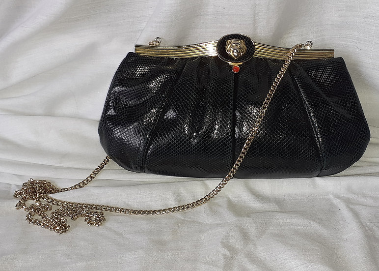 Original Judith Leiber Snake Skin Bag