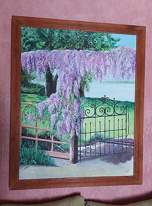 Original Oil on Canvas, Signed, Ajijic Artist ?? Judy Eager ??