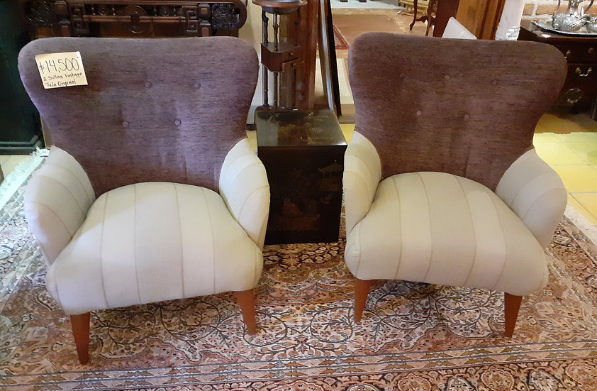 Pair of  Vintage Arm Chairs, Retro Style, Comfy