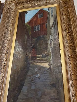 Roland-Holyoake-oil-painting-A-Cornish-Village