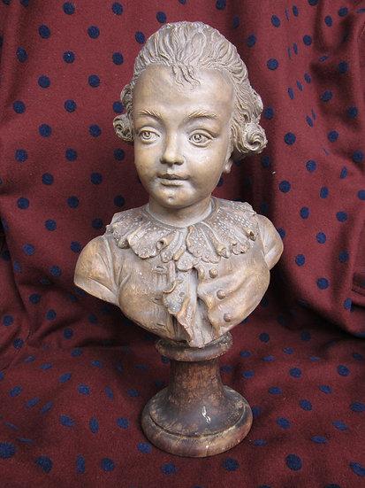 """Terra Cotta Figure, 13"""" dated 1776, Philippe-Laurent Roland"""