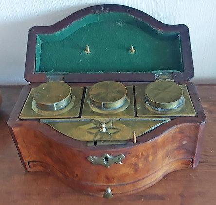 Antique English Tea Caddy, Good Condition, 19th C.
