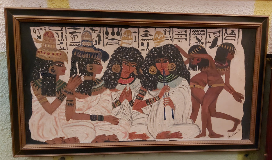 Original Artwork by B.J. Vandussen, 1981, Egyptian Figures