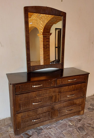 Tropical Style Dresser and Mirror