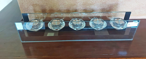"""Diamond Design Candle Rack, 18"""" wide, 4"""" tall,  Battery Candles"""