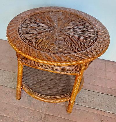 Round Wicker Table, Contemporary