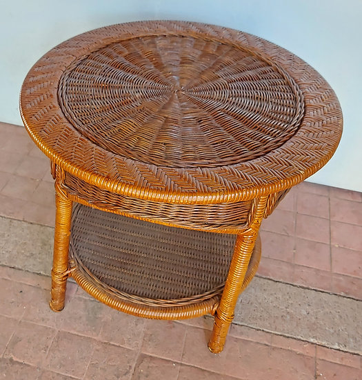 Round Wicker Table, Contemporary