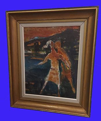 Fikret-Moualla-1903-1967-Turkish-oil-on-board-French-Riviera