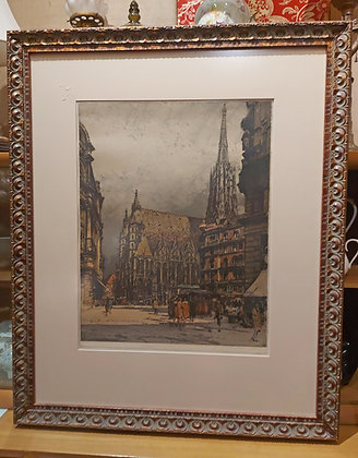 Luigi-Kasamiri-Large-Hand-Colored-Austrian-Etching