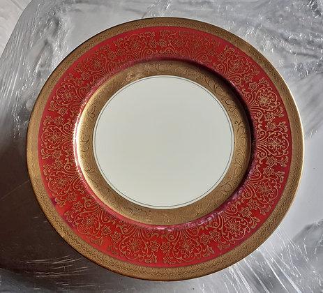 "13 -  Edgerton Service  Plates, Fine China, Gilt Edge, 11"" dia."