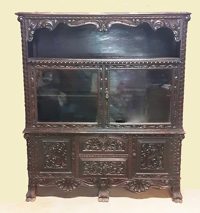Antique Mexican China Cabinet