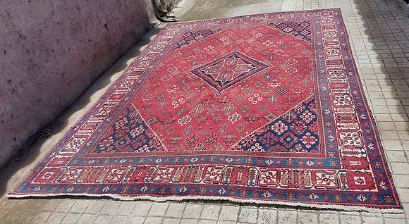 """Meshed Area Rug from Iran, 11"""" 2"""" by 7"""" 10"""", Semi-Antique"""