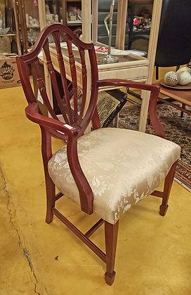 Arm Chair, Mahogany, Hepplewhite Shield Back Design