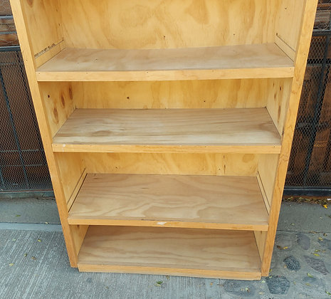 """Unfinished Wooden Shelf, 73 1/2"""" tall, 34"""" wide"""