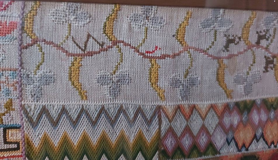 Antique Mexican Needlepoint Sampler, Dated Nov. 10, 1868