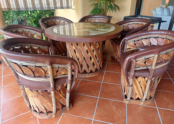 Equipal Dining Set, High Quality, Custom Made, 6 Chrs and Table