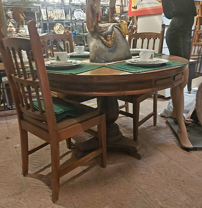 Mexican-dining-table-chairs-vintage