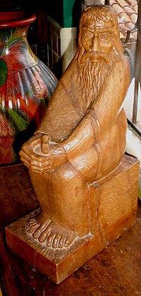 Original Roberto de la Selva Wood Carving of Zeus, dated 1944