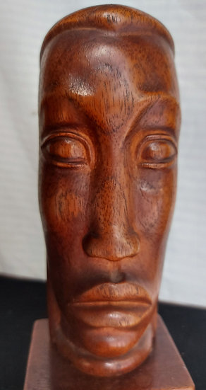 "Mexican-Art-Deco-Mahogany-Carving-1937-10""-tall"