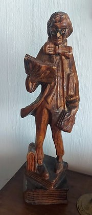 """Antique Wood Carving, Good Condition, Early 20th C..  16"""" tall"""