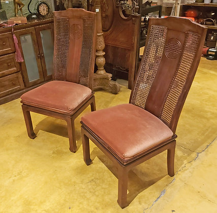 6 x  Bernhardt Dining Room  Chairs, Woven Cane Backs