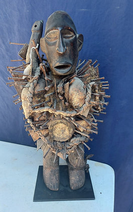 Kongo-Nail-Fetish-Figure-Powerful-Spirit-Nkondi