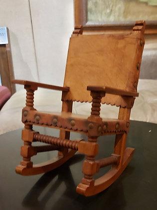 "Miniature;  Classic Sinaloa Style Rocking Chair,  10 1/5"" tall"
