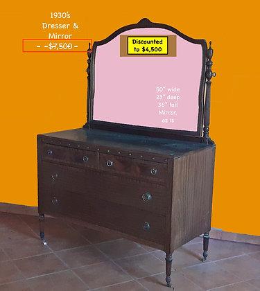 1930's Dresser and Mirror