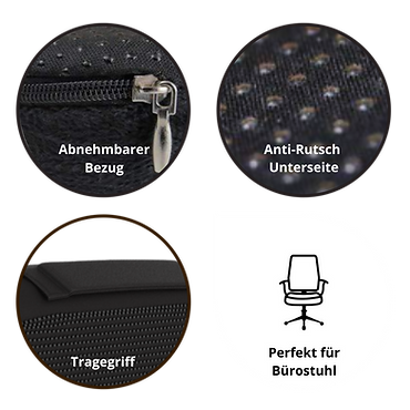 Orthopädisches Sitzkissen Mosswell zusätzliche Features