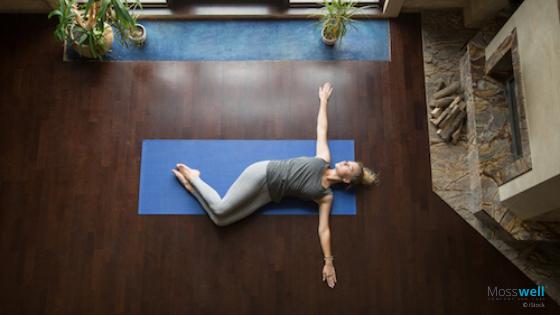 Hüftdreher Yoga Übung