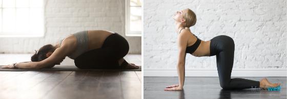 Yoga Child Cow Position