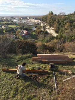 Construction de la terrasse panoramique
