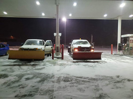 Snow Plows Fueling Up