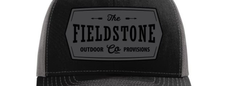 Fieldstone Black Logo Hat