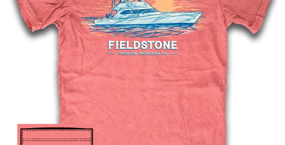 Fieldstone Sunset Boat