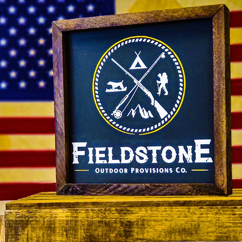 Fieldstone Display Sign