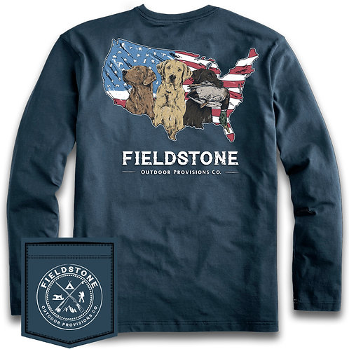 Fieldstone Long Sleeve USA Bird Dog's