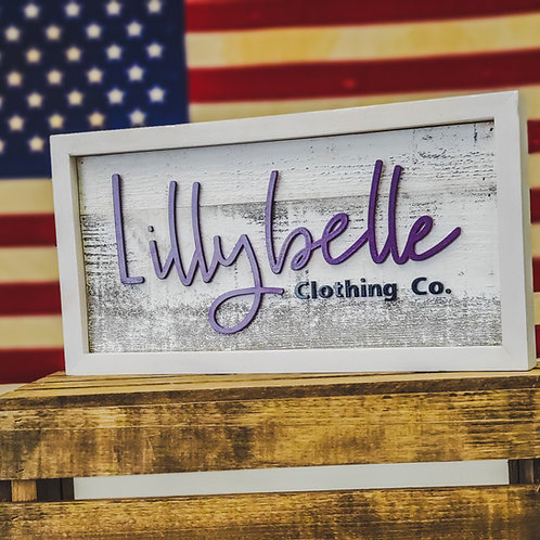 Lillybelle Display Sign