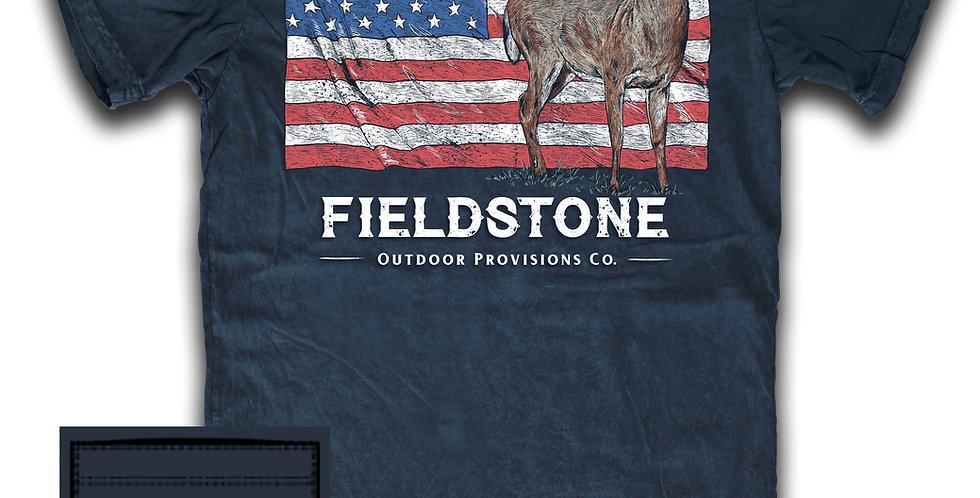 Fieldstone Flag Deer